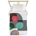 Transparent and heavy circles Twin Duvet Cover