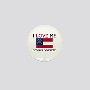 I Love My Georgia Boyfriend Mini Button