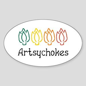 Artsychokes Oval Sticker