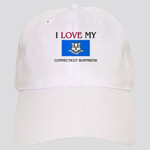 I Love My Connecticut Boyfriend Cap