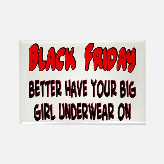 Black Friday big girl Rectangle Magnet