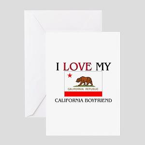I Love My California Boyfriend Greeting Card