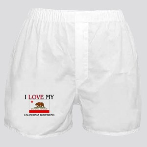 I Love My California Boyfriend Boxer Shorts