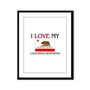I Love My California Boyfriend Framed Panel Print