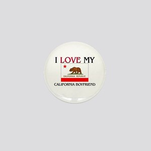 I Love My California Boyfriend Mini Button