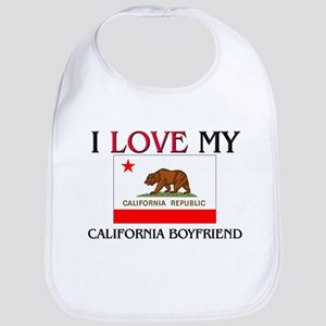 I Love My California Boyfriend Bib
