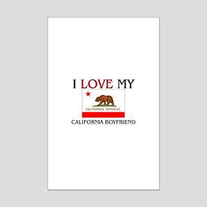 I Love My California Boyfriend Mini Poster Print