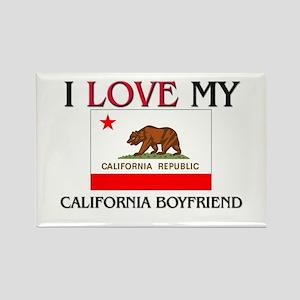 I Love My California Boyfriend Rectangle Magnet
