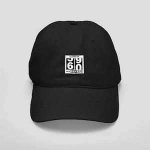 60th Birthday Oldometer Black Cap