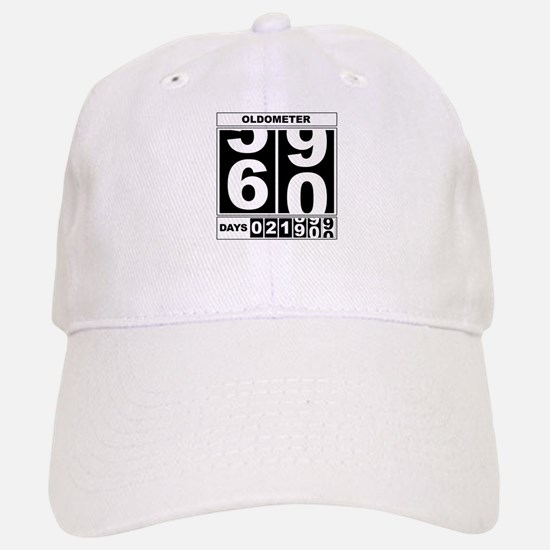 60th Birthday Oldometer Baseball Baseball Cap