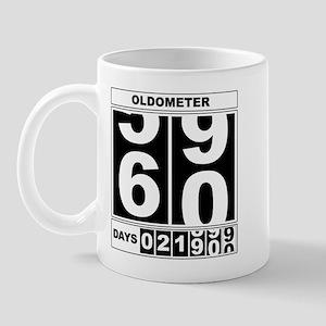 60th Birthday Oldometer Mug
