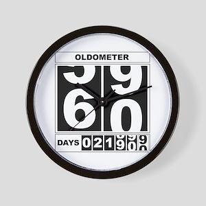60th Birthday Oldometer Wall Clock