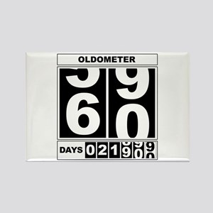 60th Birthday Oldometer Rectangle Magnet