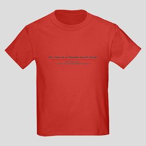 Dad's a Geek Kids Dark T-Shirt