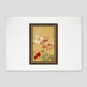 Yun Shouping - Poppies 5'x7'Area Rug