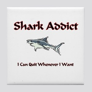 Shark Addict Tile Coaster