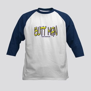 BUTT MAN Kids Baseball Jersey