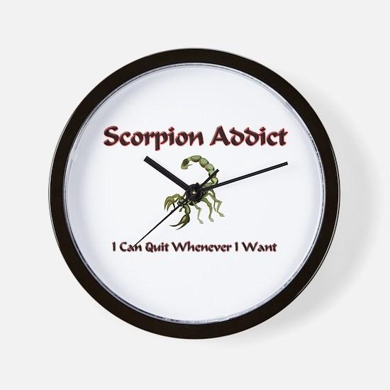 Scorpion Addict Wall Clock