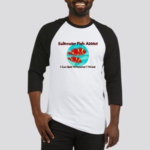 Saltwater Fish Addict Baseball Jersey