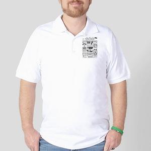 Creepy Newspaper Golf Shirt