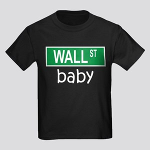 WALL ST baby Kids Dark T-Shirt