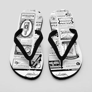Creepy Newspaper Flip Flops