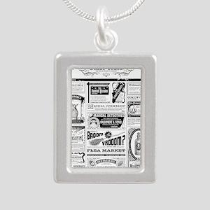 Creepy Newspaper Necklaces