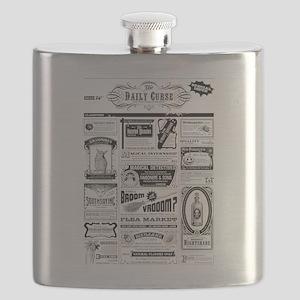 Creepy Newspaper Flask