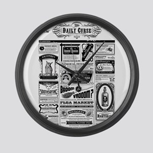 Creepy Newspaper Large Wall Clock