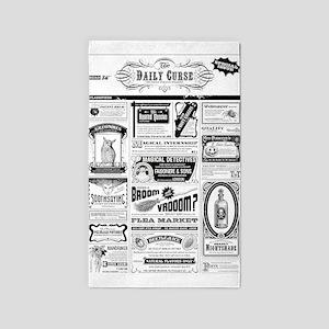Creepy Newspaper Area Rug