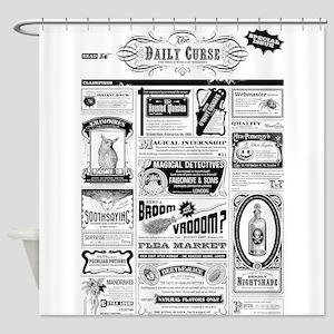 Creepy Newspaper Shower Curtain