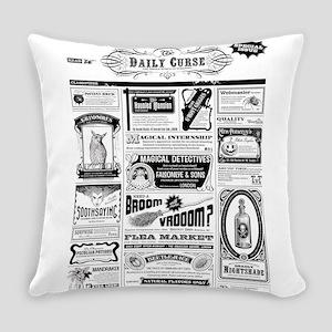Creepy Newspaper Everyday Pillow
