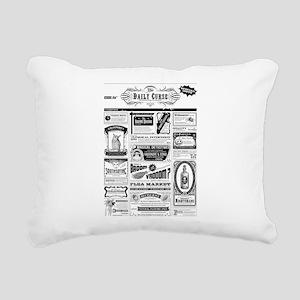 Creepy Newspaper Rectangular Canvas Pillow