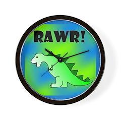 RAWR! Wall Clock