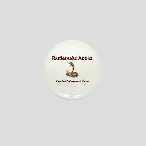 Rattlesnake Addict Mini Button