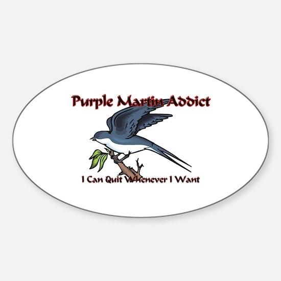 Purple Martin Addict Oval Decal