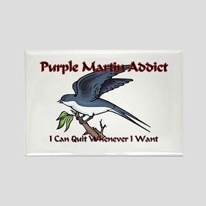 Purple Martin Addict Rectangle Magnet