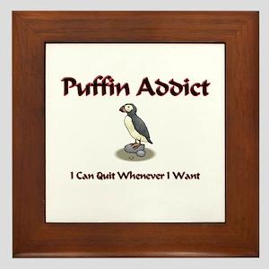 Puffin Addict Framed Tile