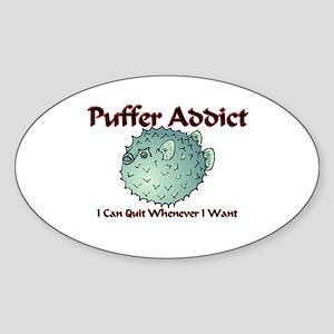 Puffer Addict Oval Sticker
