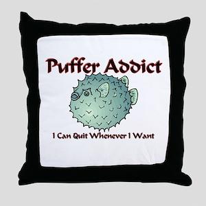 Puffer Addict Throw Pillow
