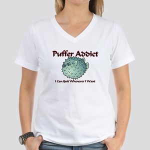 Puffer Addict Women's V-Neck T-Shirt