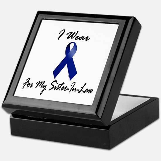 I Wear Blue For My Sister-In-Law 1 Keepsake Box