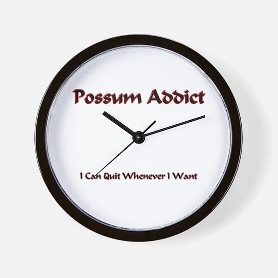 Possum Addict Wall Clock