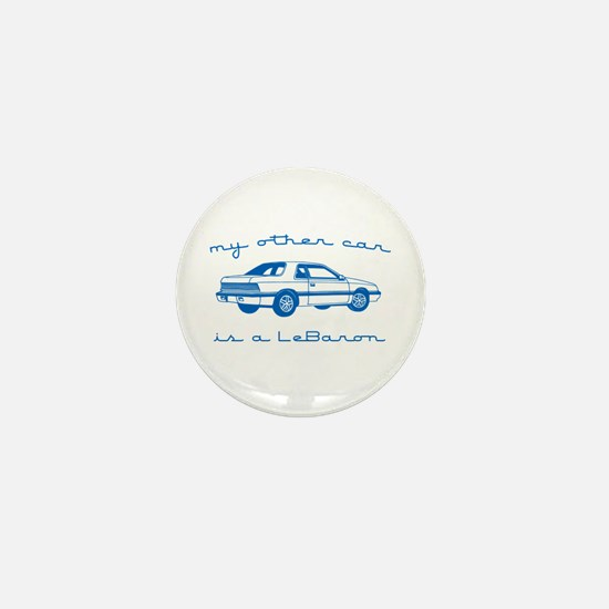 my other car is a lebaron Mini Button