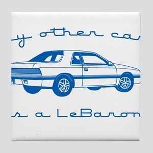 my other car is a lebaron Tile Coaster