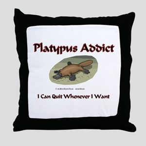 Platypus Addict Throw Pillow