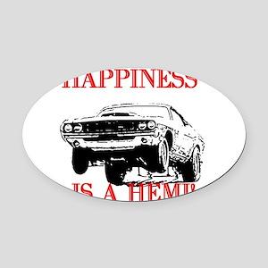 AFTMHappinessIsAHemi! Oval Car Magnet