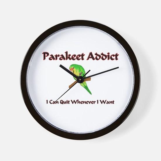 Parakeet Addict Wall Clock