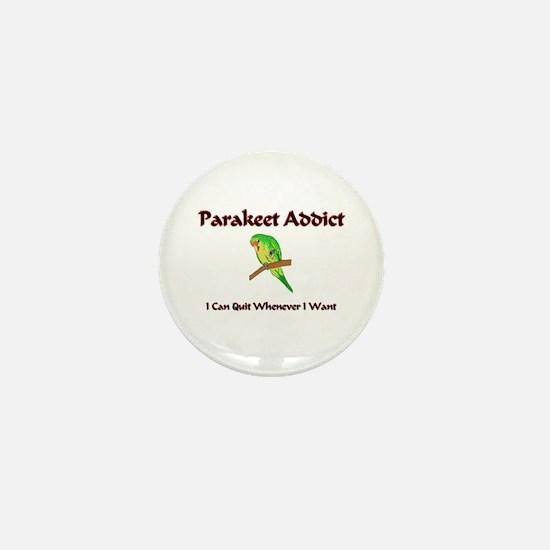 Parakeet Addict Mini Button