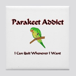 Parakeet Addict Tile Coaster
